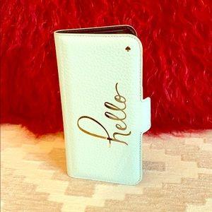 Kate Spade iPhone X Folio Case